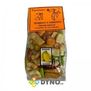 Craquelins au riz & banane pour Rongeurs, 60g - Vitanimaux